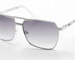 Polished silver with gray gradient lens