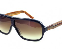 Black/blue/brown with brown gradient lens